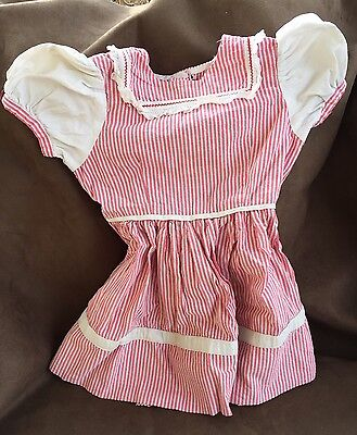 VINTAGE GIRLS Red And White Checkerboard DRESS
