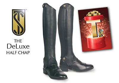 Tredstep Deluxe Half Chaps Small/Tall Black 13/17