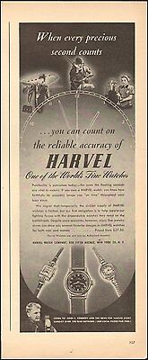 1944 Vintage ad for Harvel Fine Watches Multi styles WWII era  (083016)