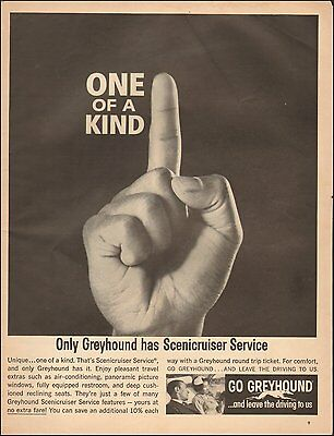 1963 Vintage ad for Greyhound`Bus Retro Fashion Couple Hand  (083016)