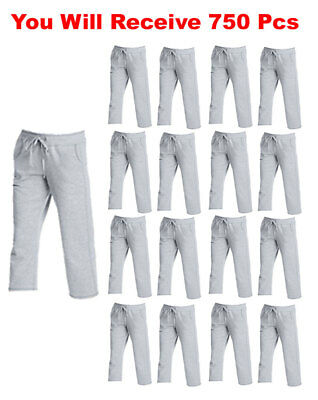750pc LOT Hanes Women's Capri Pants Sweatpants Activewear Clothes Wholesale Bulk