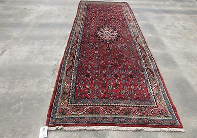 4'0X11'2 hand knotted tribal Persian Rug Vintage Woolen Oriental Carpet  03