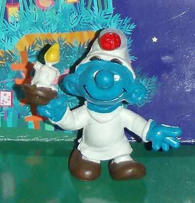 Vintage Rare Smurf In A Nightshirt With A Candle 1979 Smurf Lot