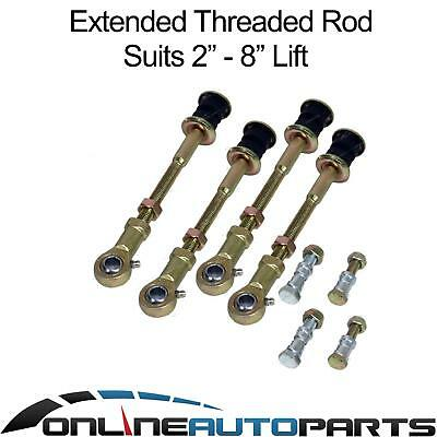 "Front + Rear Extended Sway Bar Link Rod Pins for Nissan Patrol GQ Y60 2""-8"" Lift"