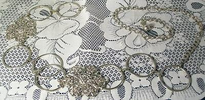 Beautiful Silver Toned Rings & Flowers girls Link belt adjustable up to 21 inch