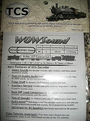 TCS WOW Steam Sound Decoder #1516 9 Pin JST Connector  Ver 4 Bob The Train Guy