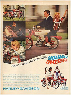 1966 Vintage ad for Harley-Davidson`Sportcycle Photo   (083016)