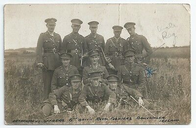 WW1 Royal Fusiliers 6th Battalion Detachment Officers BALLYKINLER Unused RP PC