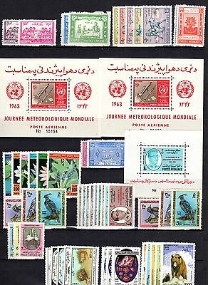 Afghanistan 1959-97 Collection Of 42 Complete Mint Never Hinged Set