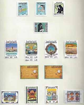 Uae 1987 1992 Collection Of 135 Mnt In Complete Sets Including Souvenir Sheets +