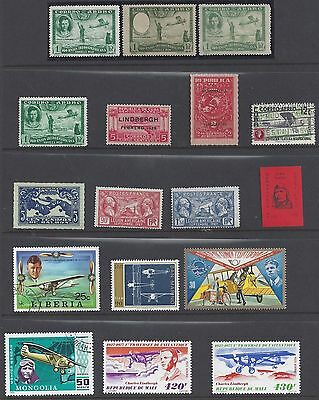 US 1928 1960s SPECIALIZE COLLECTION OF LINDBERGH ISSUE BY MANY DIFFERENT COUNTRI