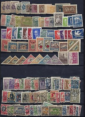 LITHUANIA ESTONIA 1920 30's COLLECTION OF 240 MINT & ABOUT 6O USED PERF & IMPERF