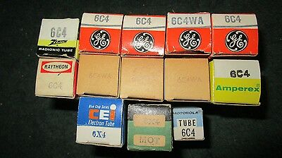 (11) NOS NIB GE Other 6C4 & (2) Free 6X4 Rectifier Audio Tubes