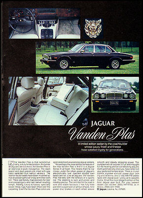 1982 Vintage magazine ad for Jaguar Vanden Plas, Black  (091812)