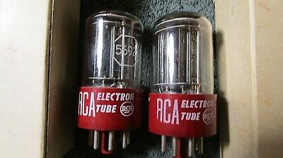 (2) Mint 110% Test NOS NIB RCA 1950's 5692 Blackplate 5-Rod  Audio  Tubes