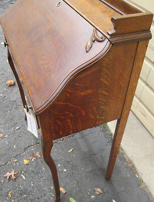 53180  Antique Victorian Oak Slantfront Desk