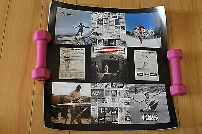 GORDON AND SMITH G&S AUTOGRAPHED 18x18in. Vintage Skateboarding Surfing Poster