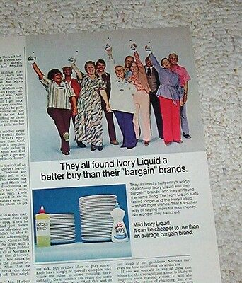 1978 vintage ad - IVORY dish Soap Muldoon-Randle-Hoyle-Fielding PRINT ADVERT