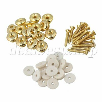 20PCS Mushrooms Strap Locks Gold Guitar Strap Buttons for Guitar Parts