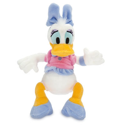 "Disney Store Authentic Daisy Duck Plush Toy Doll 9"" Tall Stuffed Animal Gift New"