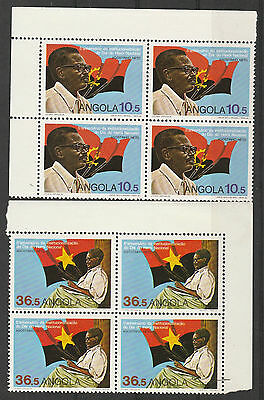 Angola 1989 Netto Set Mnh ** Blocks Of 4