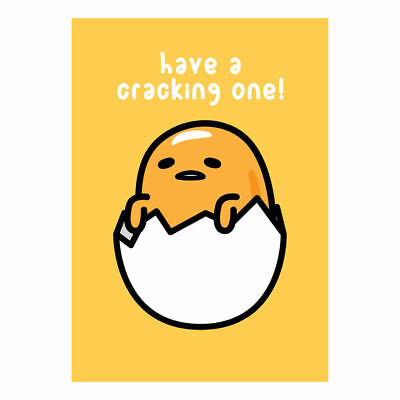 Yellow Gudetama Have A Cracking One Greeting Card Lazy Egg Sanrio Birthday Yolk