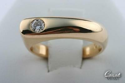 Brillantring Gold 14kt. 585 Gelbgold Brillant Brilliant 0,15 ct. Gr. 45 Unikat -