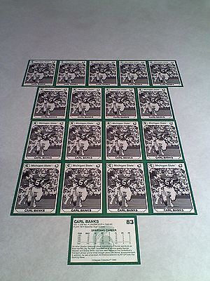 *****Carl Banks*****  Lot of 18 cards / Michigan State / Football