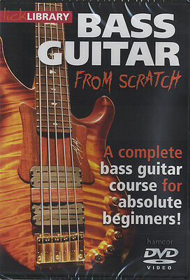 Bass Guitar from Scratch Lick Library Learn How to Play Tuition DVD