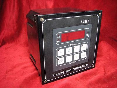 Frako Reactive Power Control Relay F 839.6 77-406-2750 1/3x100/120/200v