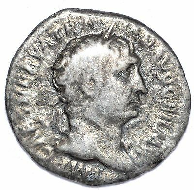 AUTHENTIC TRAJAN ROMAN COIN, AR Silver Denarius, Rv.  - A759