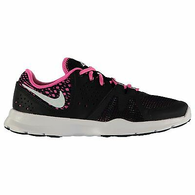 Nike Core Motion Print Running Shoes Womens Black/White/Pink Trainers Sneakers