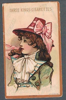 Original 1882 Three King's Cigarettes Advertising Trade Card