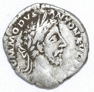 AUTHENTIC COMMODUS ROMAN COIN , AR Silver Denarius -  rev. PAX - A788