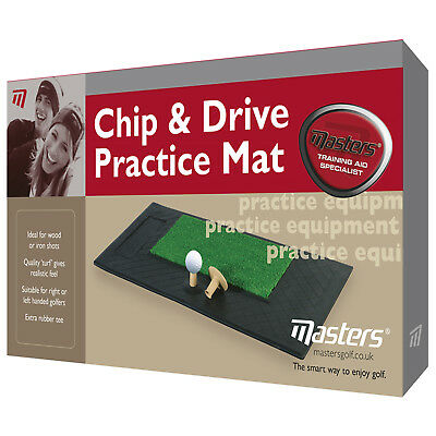 Masters Golf Chip & Drive Practice Mat New Astroturf Pitching Turf Training Aid