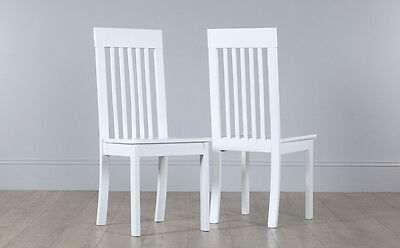 2 4 6 8 Oxford White Wooden Dining Room Chairs