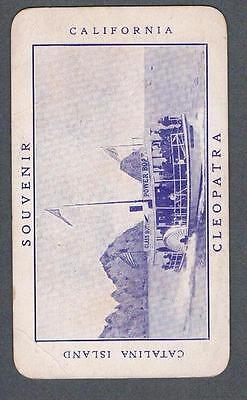 Original 1910's Catalina Island Cleopatra Glass Power Boats Ad Trade Card