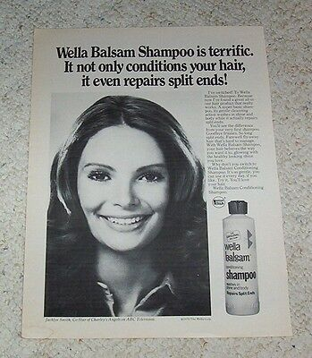1976 ad page - beauty JACLYN SMITH Wella Balsam hair vintage PRINT ADVERTISING
