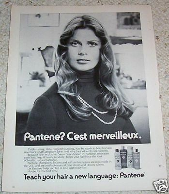 1972 vintage ad - Pantene Hair products Advertising girl 1-page PRINT AD