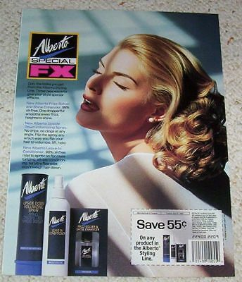 1992 vintage ad - Alberto-Culver styling PRETTY GIRL hair PRINT magazine page AD