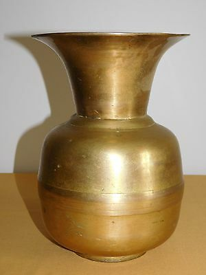 "Vintage Old Western Saloon 10"" High Brass Spitoon"