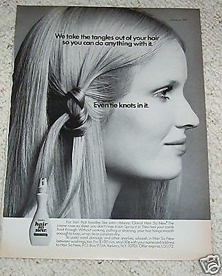 1971 vintage ad - Clairol Hair So New cute girl - 1-PAGE Print ADVERTISING
