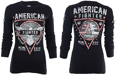 AMERICAN FIGHTER Womens  THERMAL Shirt GREAT LAKES Biker UFC Sinful $54 NWT
