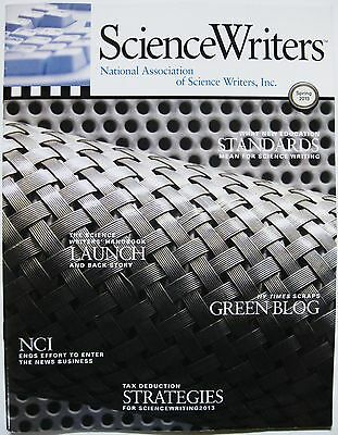 SCIENCE WRITERS NATIONAL ASSOCIATION MAGAZINE LOT of 5 issues 2011 2012 2013