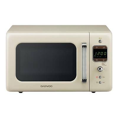 Daewoo KOR7LBKC 800W Microwave with 20L Capacity and 5 Power Levels in Cream