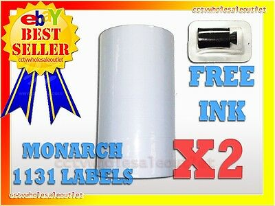 2 Sleeves White Labels For Monarch 1131 Pricing Gun 2 Sleeves=16Rolls
