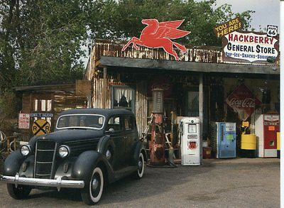 Post Card Of Old Route 66 General Store And Gas Station From 1940-1950 Era
