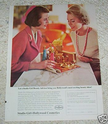 1965 ad page - Studio Girl-Hollywood Cosmetics beauty vintage print ADVERTISING