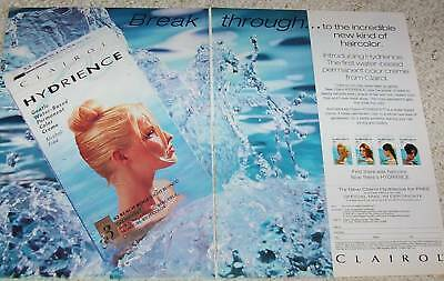 1996 advertising page - Clairol Hydrience hair color haircolor PRINT paper AD