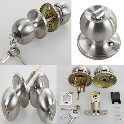Passage Interior Door Knob Lever Handle Knob Closet bedroom Lock Lockset Steel